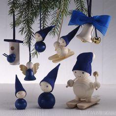 Aarikka blue Christmas decorations 1990's