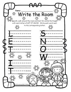 Read Around The Room Recording Sheets - Read the Room and Write the Room
