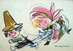 Adam Kilian (b.1923) — Wesołych Swiąt, 1961  (1000x704)