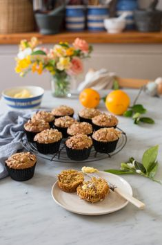 The most delicious orange & pecan muffin recipe #muffin #recipe #baking