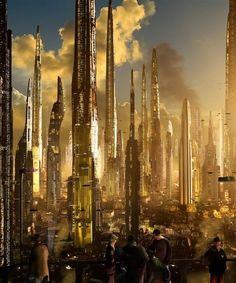 Constructions du futur / sci fi cityscape / skyline / cyberpunk / future city / skyscrapers