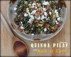 Quinoa Pilaf with Kale & Corn Recipe © A Veggie Venture