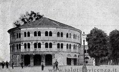 L'antico Teatro Verdi costruito nel 1828 e demolito dopo la #grandeguerra causa incuria per la requisizione ad uso di magazzino #militare. Verrà ricostruito su nuovo progetto del 1923. La struttura si trovava nell'area prospicente a Campo Marzio, dove oggi è presente il parcheggio interrato che ne conserva ancora il nome: Verdi