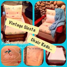 Vintage Fiesta Chair Redo...from Pine Creek Style