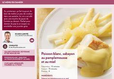 Le menu du samedi - poisson blanc sauce pamplemousse et miel