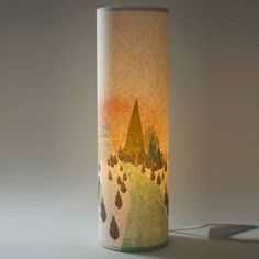 A New Day Illustrated Handmade Lamp