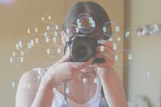Bubbles' Project! Taking photos by Honey Pie!