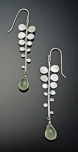 Fern Earrings: Ananda Khalsa: Silver & Stone Earrings | Artful Home