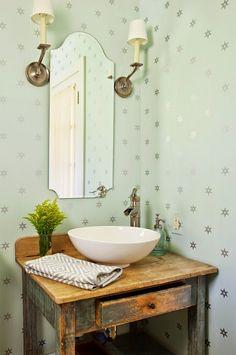 powder bathroom | Alison Kandler Interior Design