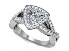Trillion Diamond Halo Infinity Engagement Ring