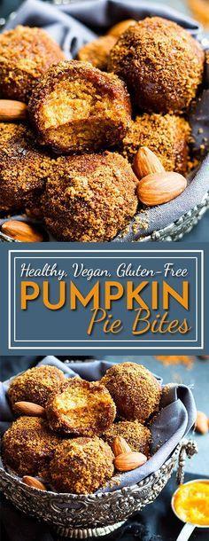 No Bake Pumpkin Pie Balls | A gluten free and vegan snack or dessert recipe for…