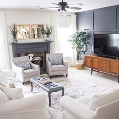 Today on the blog, I shared some more photos of our #homedepot family room makeover. I've been getting a lot of questions about our slipcover couches after yesterday's instastories and post so I'll share some more details on the blog soon regarding the pros and cons. I'm sharing this photo for #mystylewednesday. As our home evolves, I see myself gravitating towards clean lines, minimal decor and still a mix of styles. This room really reflects my true aesthetic and I couldn't be more…