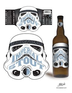 Buckethead Imperial Stout by BrionSalazar | #StarWars