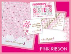 pink ribbon-cancer awareness #erincondren #BCA