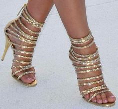 Balmain shoes. Golden. Shimmering. Sexy. Beautiful