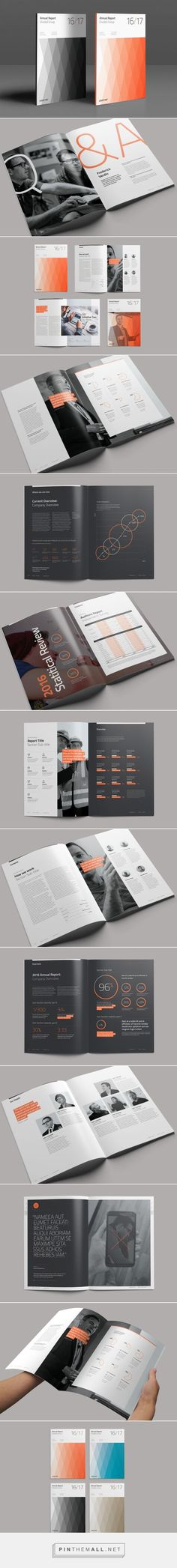 Divided Annual Report on Behance - created via http://pinthemall.net: