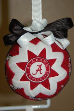 University of Alabama folded star ornament by craftinjenn on Etsy