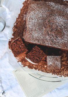 Rezept für einen Kakaokuchen meiner Oma Wiener Schnitzel, Tiramisu, Deserts, Sweets, Baking, Cake, Ethnic Recipes, Food, Fitness