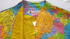 "M Cotton and Silk ""Atlas"" Bolero Jacket Bolero Jacket, Yellow, Blue, Kimono Top, My Etsy Shop, Silk, Halloween, Check, Cotton"