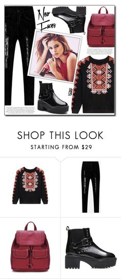 """""""Yoins (21/VI)"""" by dorinela-hamamci ❤ liked on Polyvore featuring Topshop, yoins, yoinscollection and loveyoins"""
