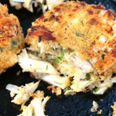 Real Cajun crabcakes - of course best served with rice..