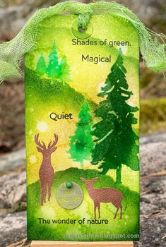Simon Says: Use Something Green - Simon Monday Challenge Blog Forest Scenery, Forest Art, Clay Crafts, Fun Crafts, Tim Holtz Stamps, Journal Challenge, Spring Forest, Simon Says Stamp Blog, Green Theme