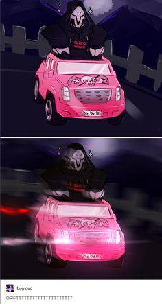 Reaper has a new car