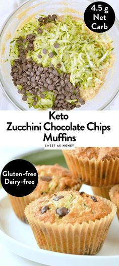 KETO ZUCCHINI MUFFINS #ketodiet Low Carb Fast Food, Healthy Low Carb Recipes, Low Carb Desserts, Ketogenic Recipes, Low Carb Keto, Diet Recipes, Ketogenic Diet, Paleo Keto Recipes, Paleo Dairy