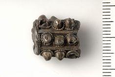 Viking silver filigree pendant.