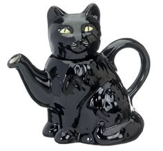 The 'Black Cat' Full Size Teapot by CartersofSuffolk on Etsy