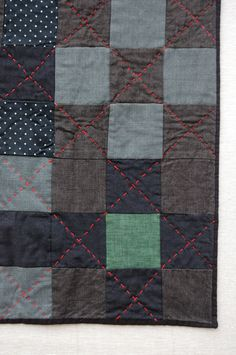 Alabama Quilt (really wish i had my dad's old suits [or even my grandpa's] to make something like this)