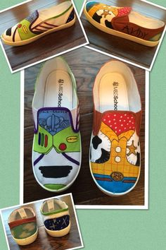 Hand painted Toy Story shoes