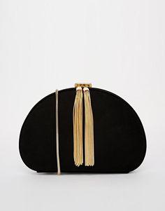 Ted Baker   Ted Baker Round Tassel Zip Clutch Bag at ASOS