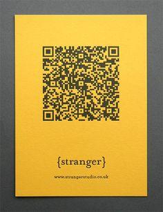 stranger studio letterpressed qr code postcards | by stranger studio & blush