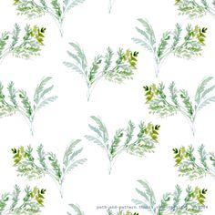 fern watercolor pattern