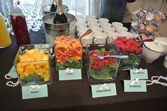 Mimosa Bar for Breakfast at Tiffany's Bridal Shower! londynkate.com/blog/
