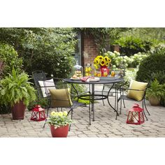 Superb Shop Garden Treasures Davenport 48 In X 48 In Wrought Iron Round Patio  Dining