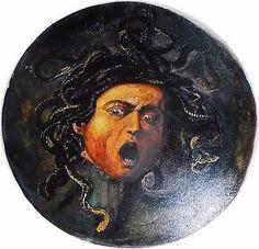 034-Der-Kopf-der-Medusa-034-Kunstkopie-Bild-von-Michelangelo-Merisi-Caravaggio