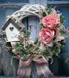 Client Endorsements The Wreath Depot is where to go shopping if you're looking for an eye-catching wreath. First you are mosting likely to require a grapevine wreath 37 BEST DIY SPRING WREATHS Wreath with bird house & flowers 🌸 Home Design, Home Deco Wreath Crafts, Diy Wreath, Door Wreaths, Grapevine Wreath, Easter Wreaths, Holiday Wreaths, Christmas Decorations, Diy Spring Wreath, Spring Crafts