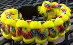 Rainbow Camoflauge with Neon Yellow Paracord Bracelet Paracord Bracelets, Neon Yellow, Diy Crafts, Rainbow, Trending Outfits, Unique Jewelry, Awesome, Handmade Gifts, Etsy