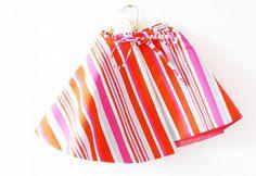 Wrap skirt | Fuchsia Scarlet Bold Stripes | Lotta Lorier | Surface Pattern Design