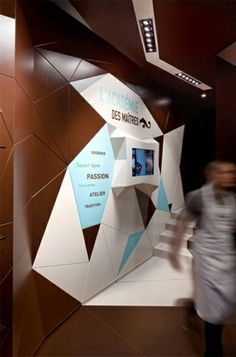 3D wall - cool #exhibition stand design