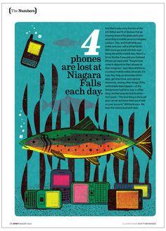 Spirit Magazine, Lost phones - See Scotty Design & Illustration