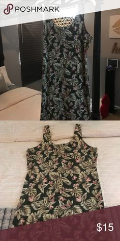 F21 Plus Size Palm tree bodycon dress....2x. Perfect piece to add to your summer wardrobe! Forever 21 Dresses Midi
