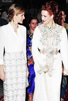 Lalla Salma hosts the QUeen Letizia of Spain and the Palace in Rabat, Morocco July 14, 2014