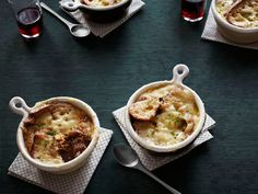 French Onion Soup With Braised Short Ribs from Geoffrey Zakarian FoodNetwork.com