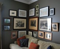 Gallery wall in a corner!