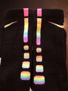 Cool rainbow socks by brettzendes http://www.flickr.com/photos/93626045@N03/8551693975/