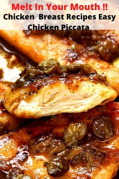 Easy Chicken  Breast Recipes : Easy Chicken Piccata Piccata Sauce, Best Healthy Dinner Recipes, Delicious Restaurant, Chicken Piccata, Easy Chicken Recipes, Turkey Recipes, Breast Recipe, Chicken Seasoning, Stuffed Peppers