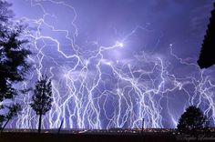 """Top 10 Weather Photographs: December 2015 """"Lightning Barrage in South Africa"""" – Awesome lightning barrage in Pretoria, South Africa yesterday evening. What a light show that was. All Nature, Amazing Nature, Science Nature, Nature Pictures, Cool Pictures, Beautiful Pictures, Random Pictures, Lightning Photography, Nature Photography"""